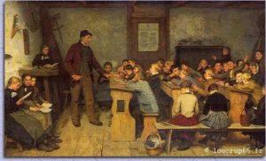 Une salle de classe dans les années 1880