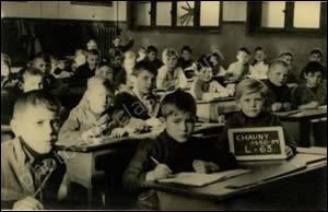 Une salle de classe dans les années 1950